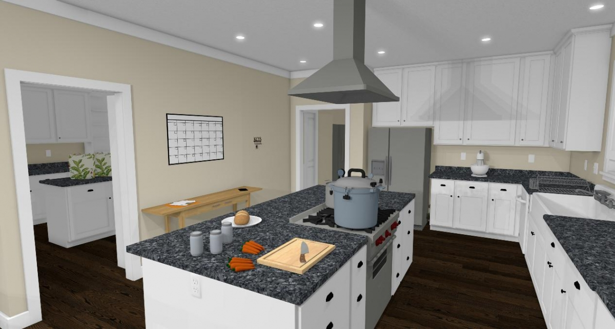 Homesteader II kitchen and pantry view