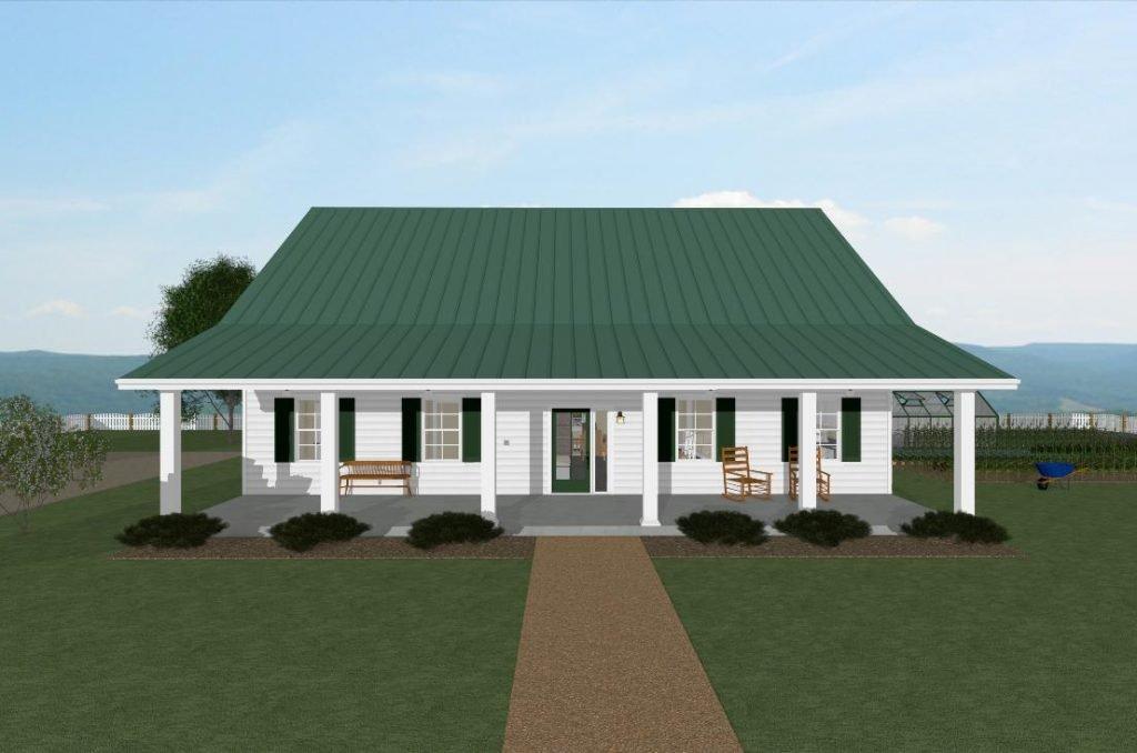 Homesteader cottage front view