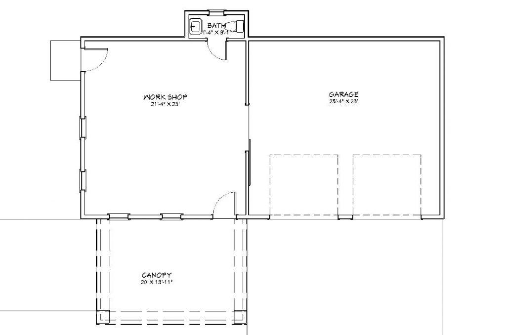 classic garage floor plan