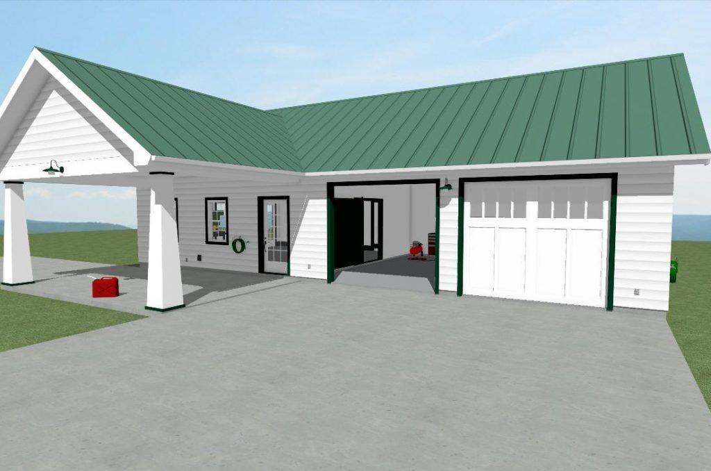Classic Station Garage Homesteader trim