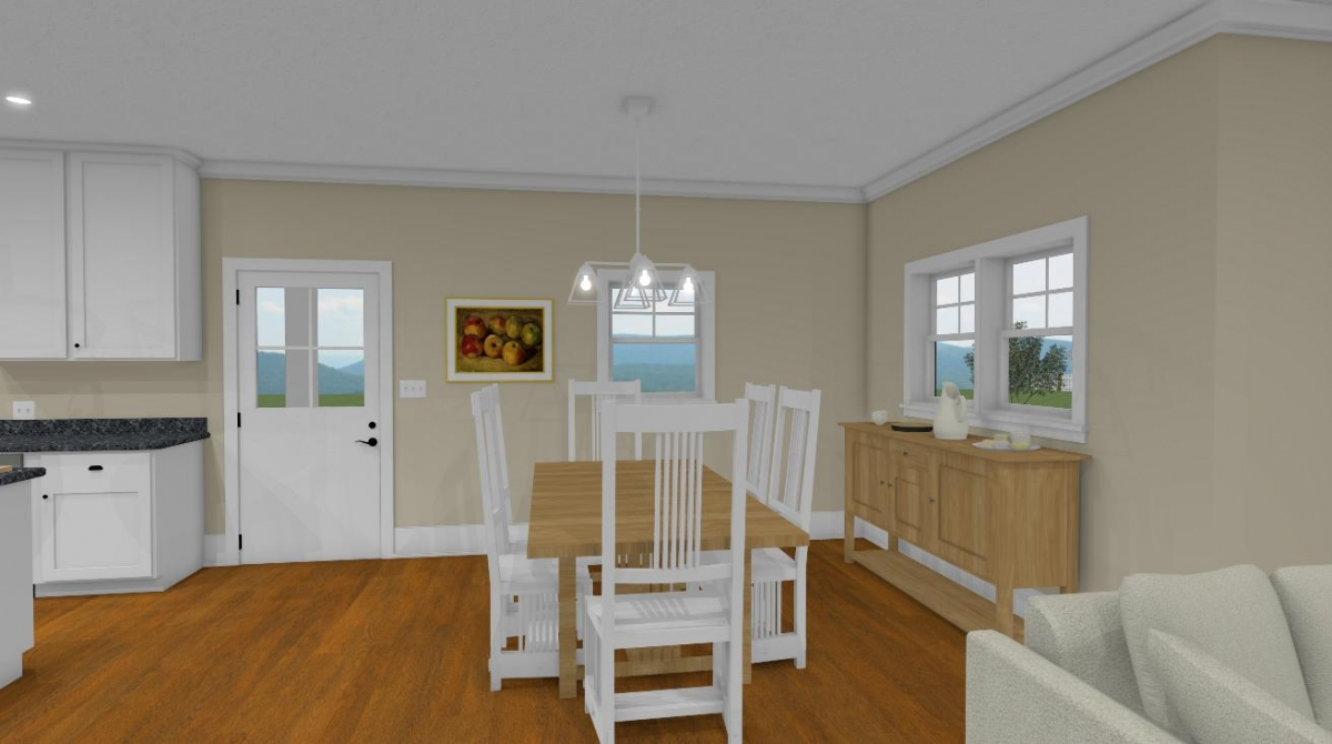 The summer cottage dining from living room