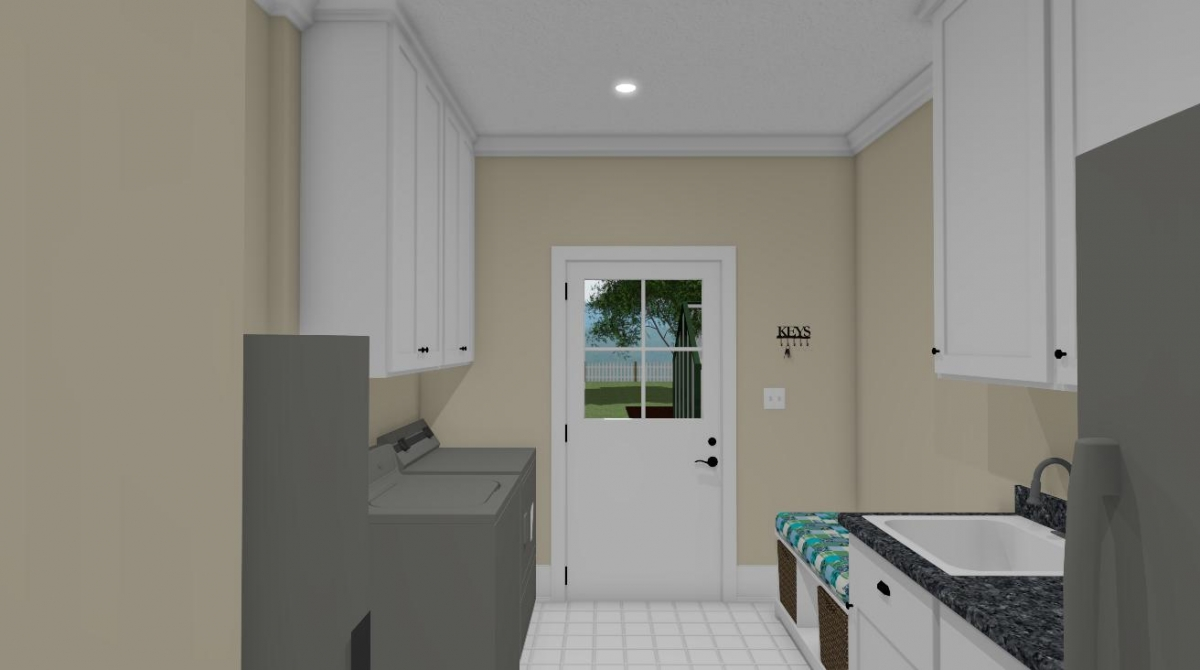 The summer cottage laundry room