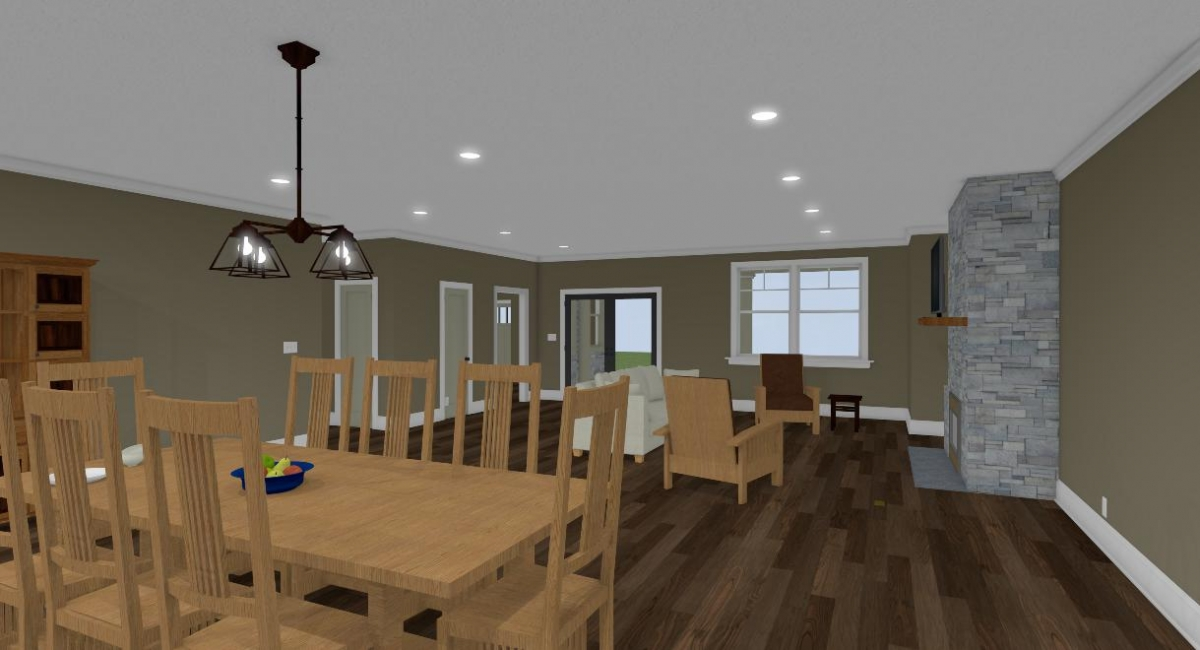 Apothecary III dining room view two