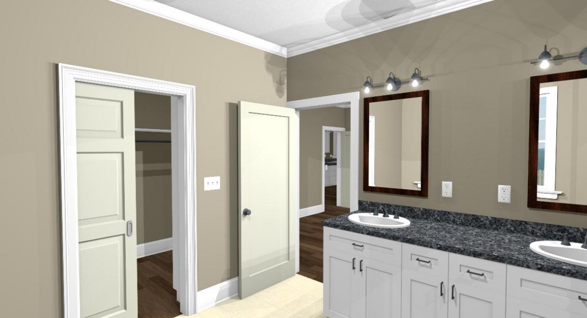Apothecary I master bath sinks and closet