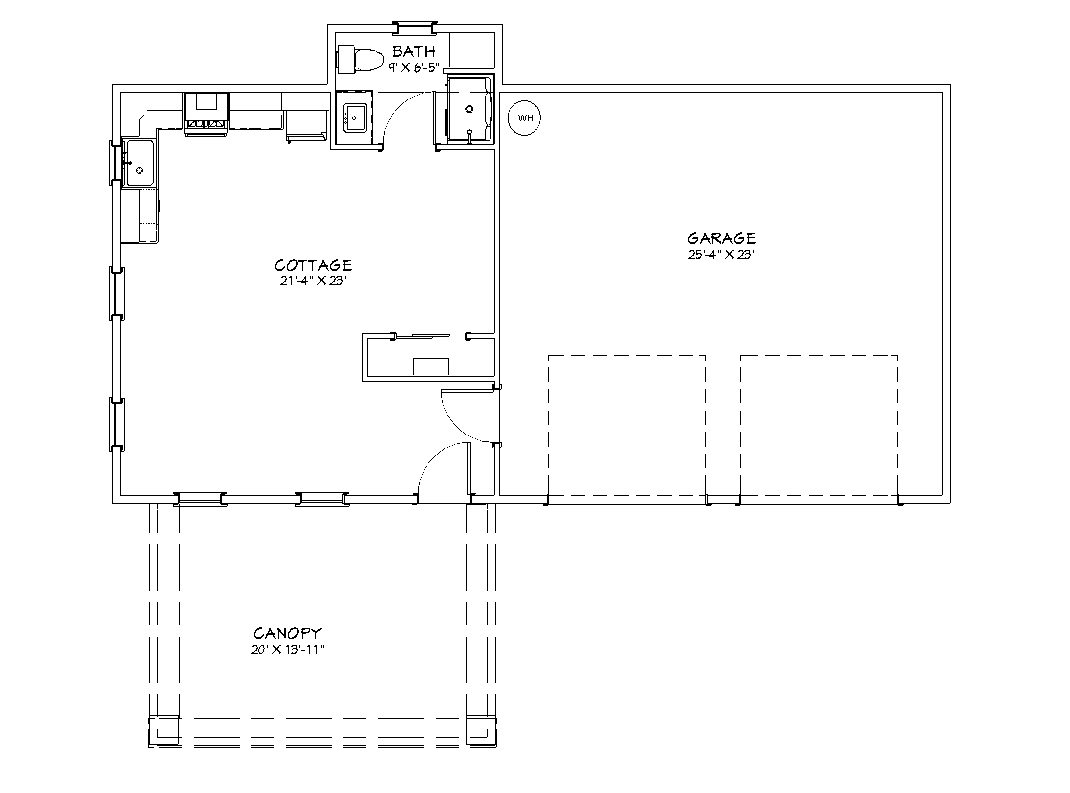 classic station cottage floor plan