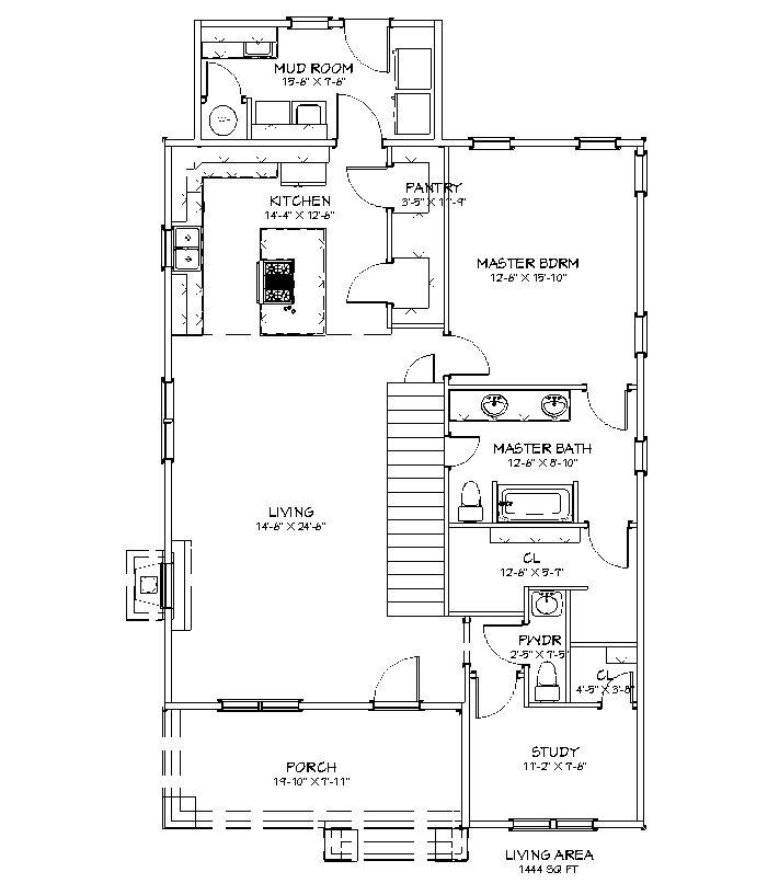 Craftsman I First Floor Plan