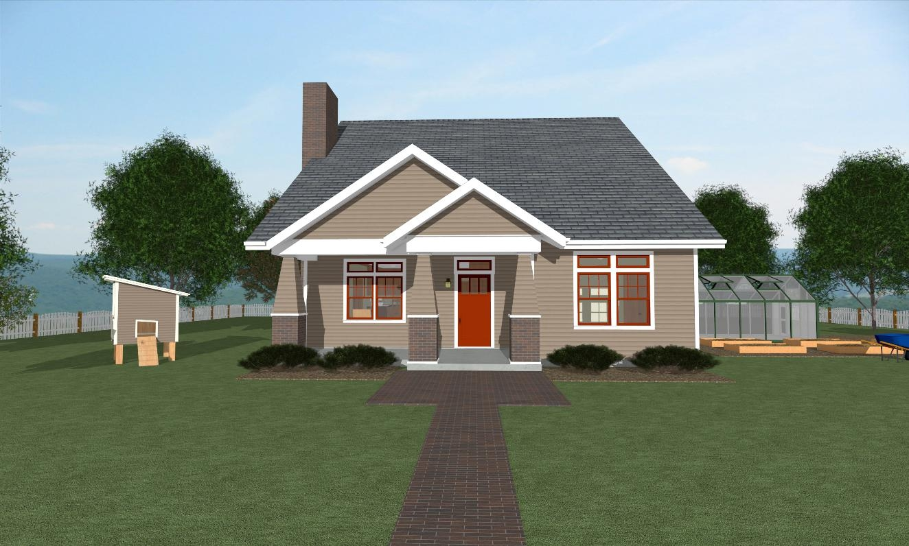 Craftsman I house plan Front view