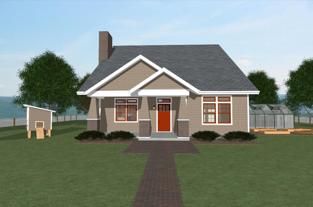 The Craftsman I house plan front view