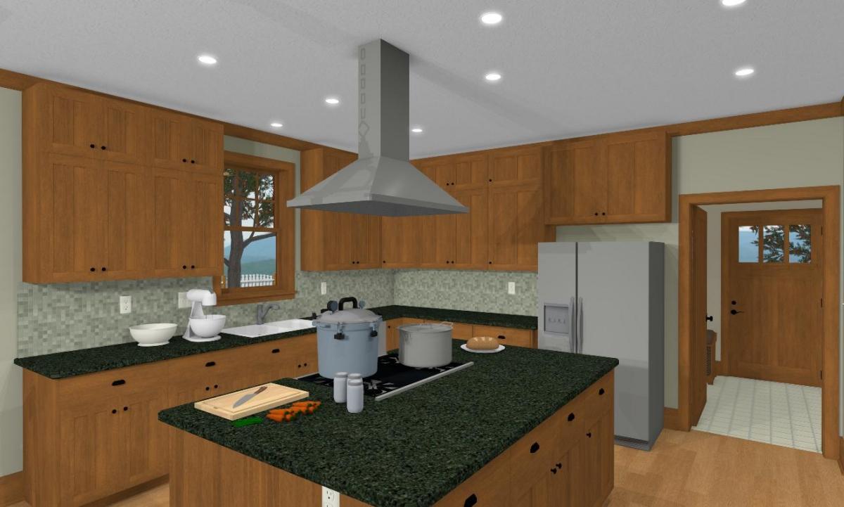 Craftsman I Kitchen and Mud Room