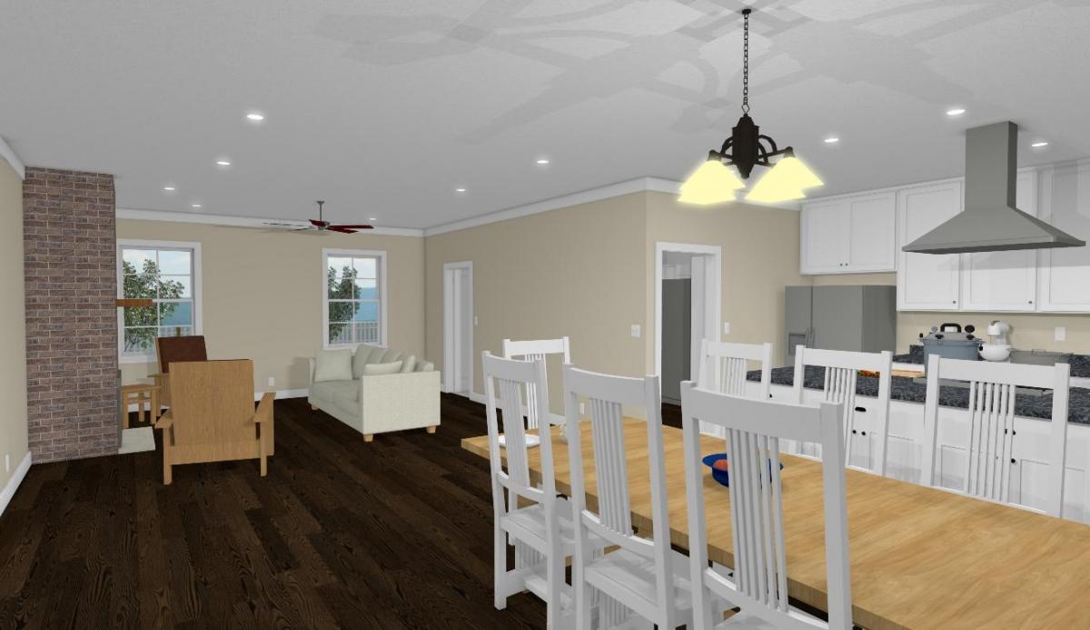 Homesteader Cottage Dining and Living