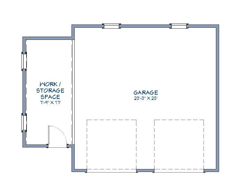 Cottage Garage floor plan