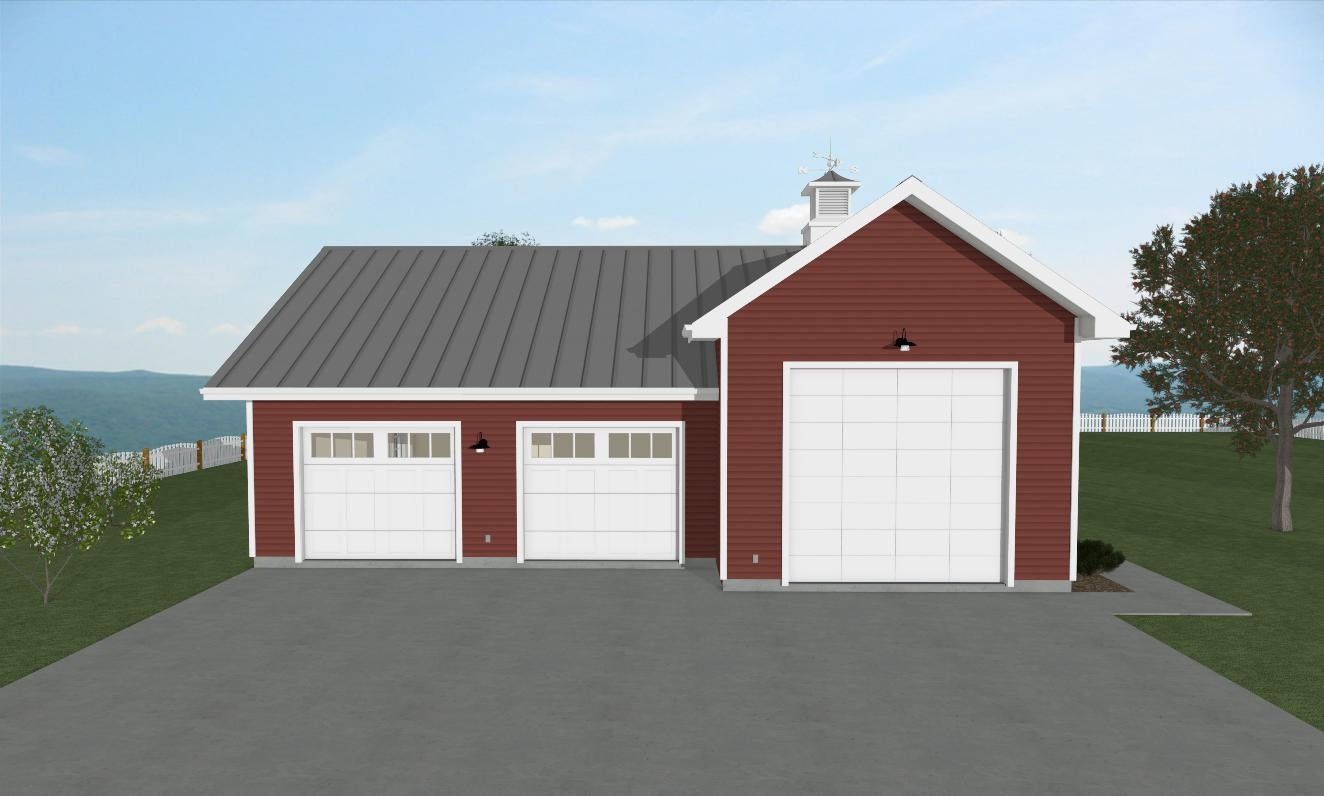 Farmstead Garage Exterior View Front
