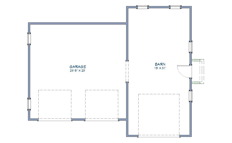Farmstead Garage and Barn Floor Plan