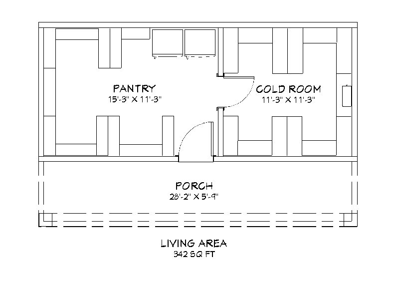 Above ground root cellar floor plan