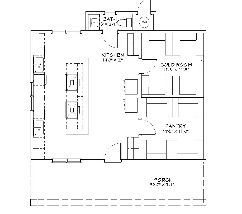 The Summer Kitchen outbuilding floor plan