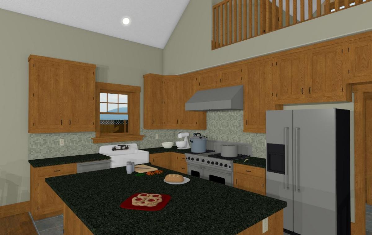 Christmas Barn kitchen