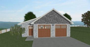Cottage Garage front elevation